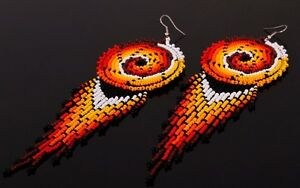 Image Is Loading Native American Style Earrings Indian Beaded