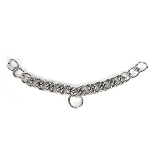 1pc stainless steel double link curb chain for horse bits pet JBUNHWC