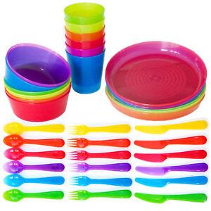 IKEA-KALAS-Set-de-Childrens-BPA-Free-Plastique-Bols-Tasses-couverts-ou-plaques