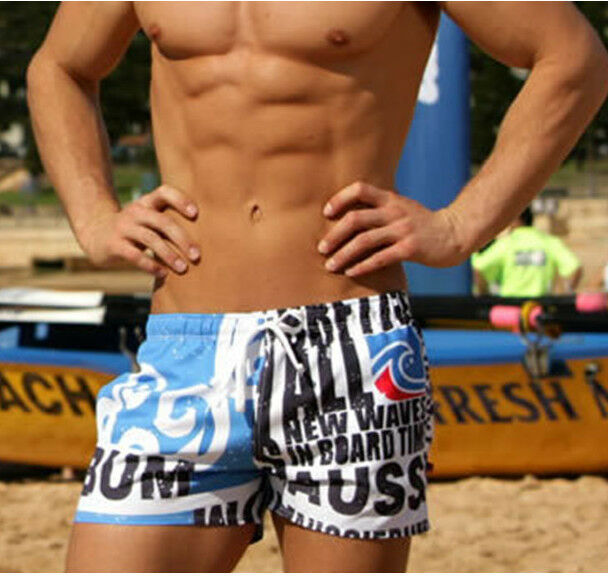 Men's Beach Shorts Swimming Swim Trunks Shorts Slim Pants Swimwears Boardshorts