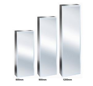 New Luxury Stainless Steel Bevelled Edge Reversible Tall Bathroom Mirror Cabinet Ebay