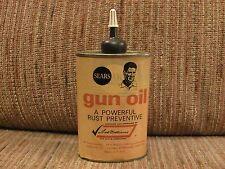 Vintage Sears Roebuck Ted Williams Paper Label Gun Oil Handy Oiler Tin