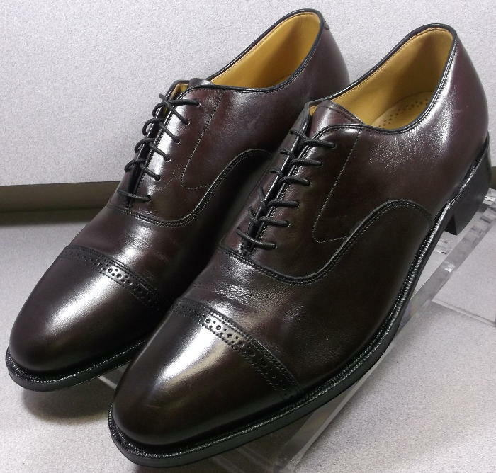 2408565 MS50 Chaussures Hommes Taille 10.5 M Bordeaux en cuir à lacets Johnston & Murphy