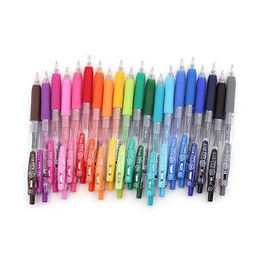 Zebra Sarasa Retractable Push Clip Gel Pens - 0.5 mm (20 Colours Available)