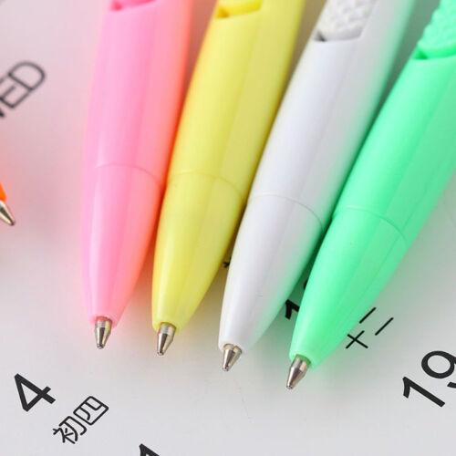 2X Kugelschreiber mit Digitaluhr Elektronische Uhr Schüler Büro Schreibwaren
