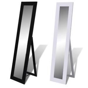 New Free Floor Standing Dressing Mirror Full Length Steel White ...