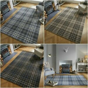 Traditional-Classic-Tartan-Check-Design-Soft-Quality-Home-Rug-Carpet-Long-Runner