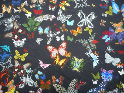 Designers Guild Curtain Fabric /'BUTTERFLY PARADE/' 1.7 METRES Oscuro 100/% Cotton