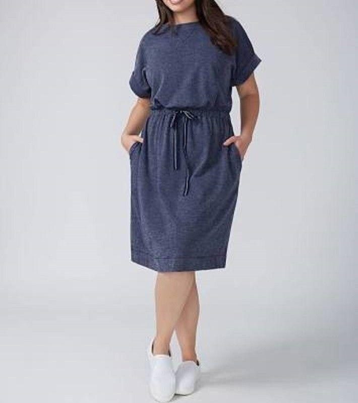 Lane Bryant Women's Sweatshirt Dress With Drawstring Waist