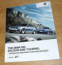 BMW M5 E60 Saloon & E61 Touring Brochure 2009-2010 - 5.0 V10  - UK Market
