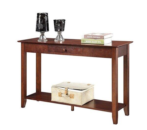 Modern Wood Console Table Accent Entryway Sofa Hall Entry Espresso Shelf Ebay