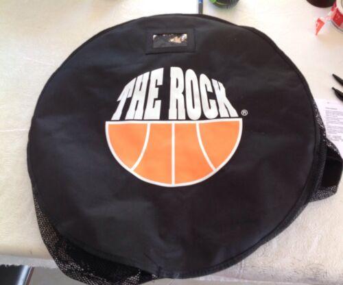 SPORTS MESH DUFFLE BAG BASKETBALL BLACK THE ROCK 22x35x35 EXTRA LARGE EQUIPMENT