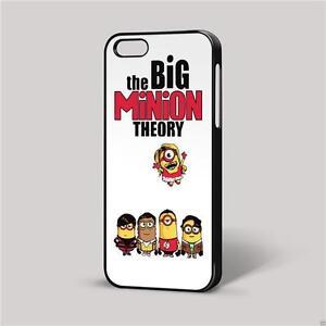 The Big Minion Theory Bianco Sfondo Iphone Cover Custodia Per