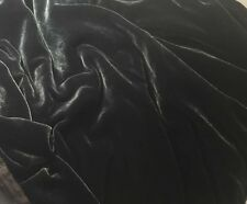 "Silk VELVET Fabric SMOKE Charcoal GRAY by the yard 45"""