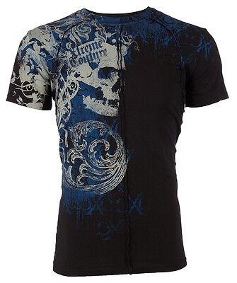 Xtreme Couture AFFLICTION Men T-Shirt PLASTERED Skull Tattoo Biker UFC S-4XL $40