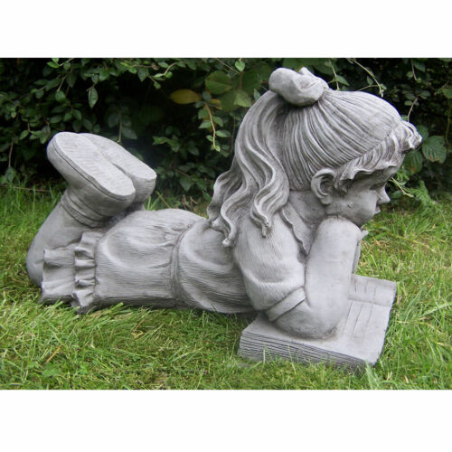 Stone Effect Boy /& Girl Garden Ornaments Antique Style Lawn Statues Unique Decor
