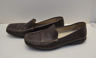 carbohidrato niebla tóxica riesgo  Geox Respira Brown Leather Driving Loafers Womens Size 40 US 7 | eBay