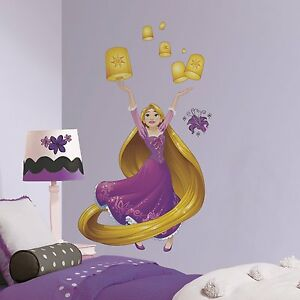 Image Is Loading DISNEY PRINCESS RAPUNZEL GiAnT Sparkling Wall Decals Room