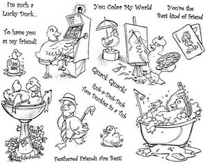 Details about Unmounted Rubber Stamp Sheet, Rubber Ducks, Duckies,  Friendship Stamps, Animals
