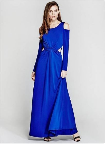 MARCIANO SONA DRESS CUT OUT ROYALL blueE SIZE LARGE NEW NO TAGS RETAIL   178 L