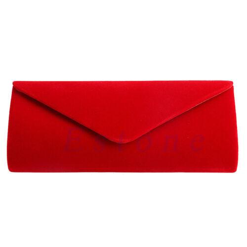 Elegant Ladies Velvet Clutch Evening Bag Wedding Envelope Bag Prom Party Handbag