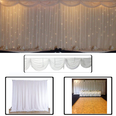 White Backdrop Curtains Ice Silk