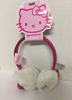 Girls Ear Muffs Hello Kitty With Earphones White Pink Claire's No Earbuds