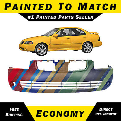 NEW Painted To Match Front Bumper Replacement for 2004 2005 2006 Nissan Sentra