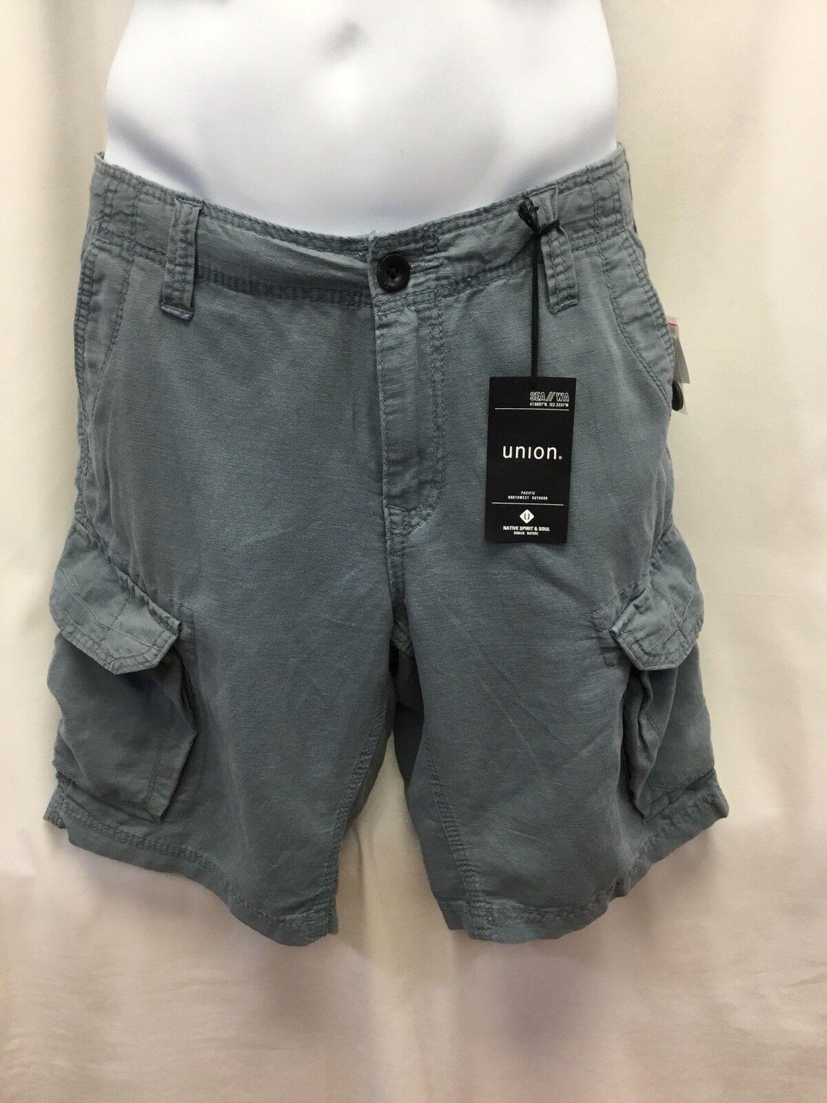 Union Denim Men's Crushin' It Cargo Shorts Gravity bluee