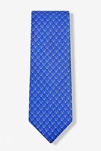 Alynn Men's 100% Silk Blue Legal Scales Of Justice Lawyer Law Tie Necktie