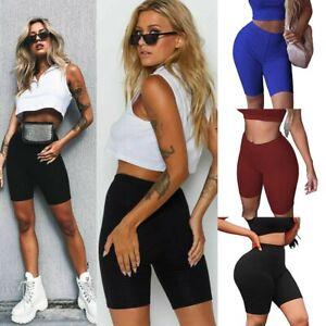 klar in Sicht Kundschaft zuerst neue Stile Details zu 1/2 Sport Shorts Hotpants kurze Leggings Baumwolle Radler  Sporthose Yoga Leggins