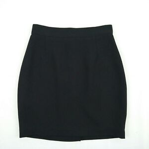 CUE-Black-Lined-Straight-Skirt-Women-039-s-Size-10-W26-5-Made-in-Australia