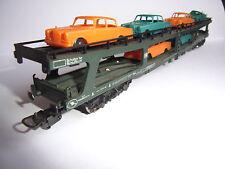 Lima HO 9054 - Autotransporter mit 6 PKW DB- OVP- car transporter german Rail