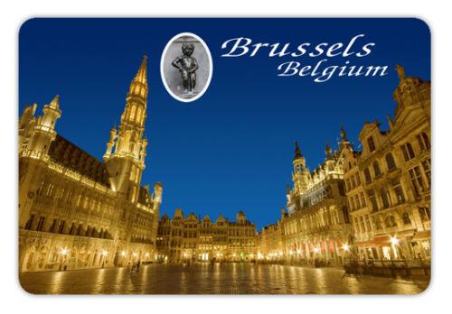 "Belgium brussels  Souvenir Travel Photo Fridge Magnet Big size 3.5/""X2.4/"""