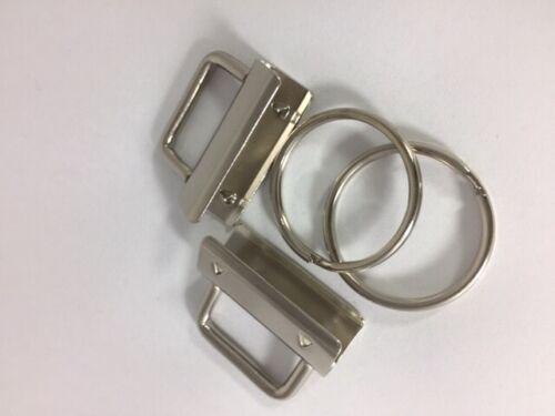Klemmschliesse Schlüsselband Rohling Anhänger 20mm 25mm 30mm Gurtband Filz