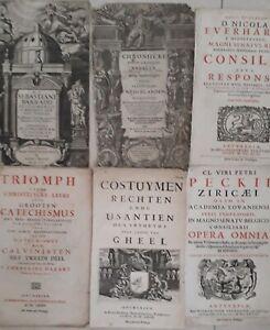 6-Titelbladen-Antwerpen-17e-eeuw-Verdussen-Meurs-Knobbaert-Geel