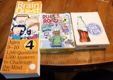Brain teasers-Brain Quest & Rules of the road flash cards & Cards