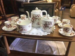 Image Is Loading Vintage China Tea Set Afternoon Wedding Cafe