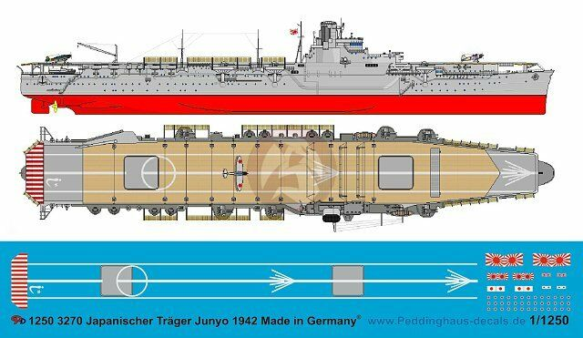 Peddinghaus 1//1250 ep 3270 Japanischer Träger Junyo 1942