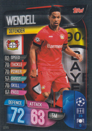 Topps match coronó Champions League 19 20 2019 2020 lev5 Wendell mapa base