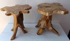 Sgabello in radice radica di teak massello sedia cm 46h 40x40 seduta 30  albero