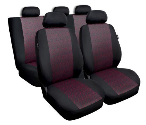 PEUGEOT 206 Rouge Universal Sitzbezüge Housse De Siège Auto Housses de protection professionnel