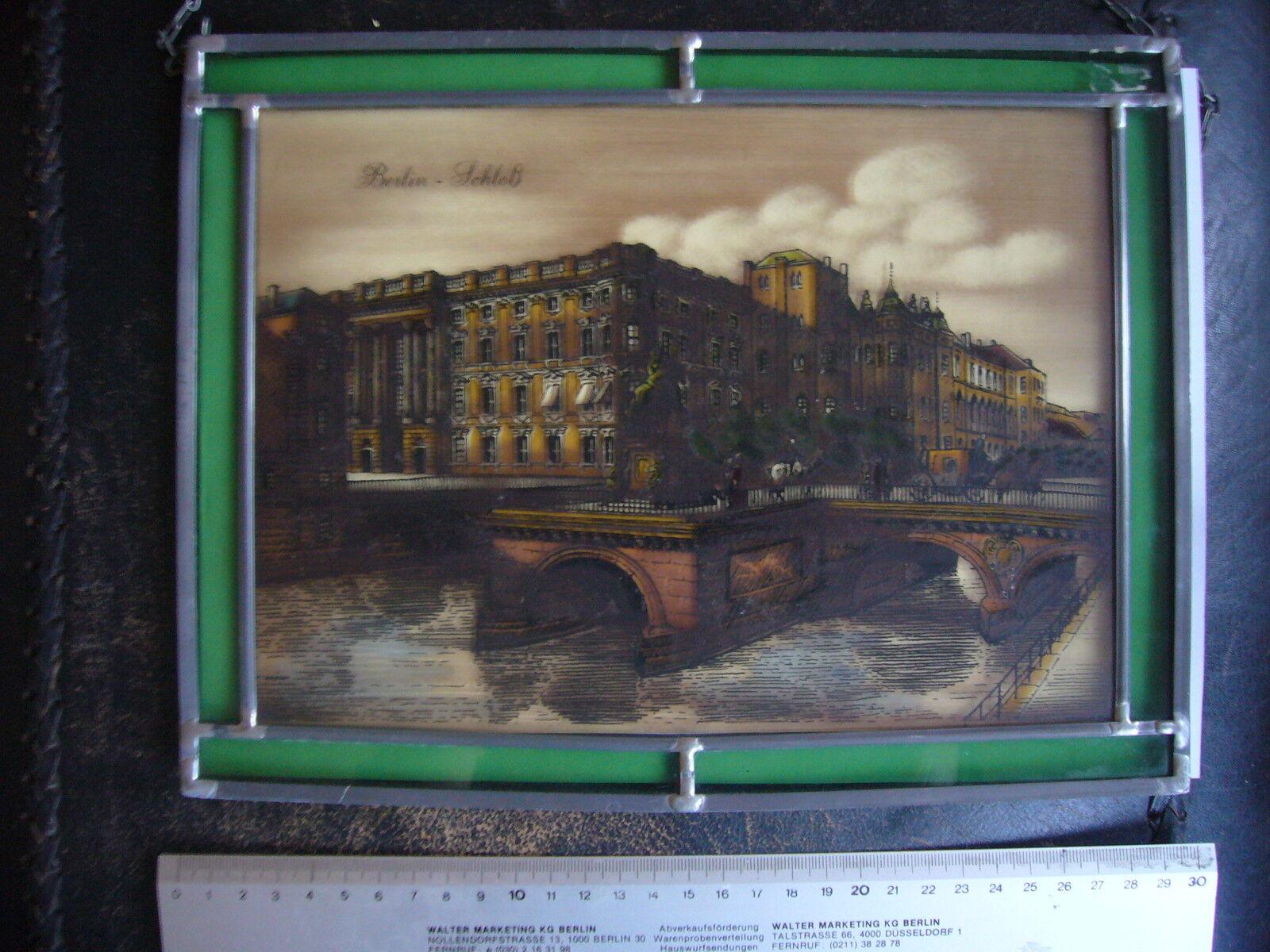 Glasbild Berliner Stadtschloss Applika Glasmanufaktur 28  22 cm