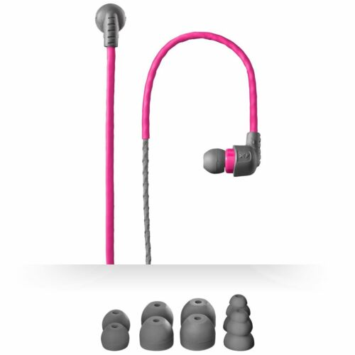 X-1 Weatherproof Sweatproof Sports Running Jogging Gym Headphones Earphones Pink