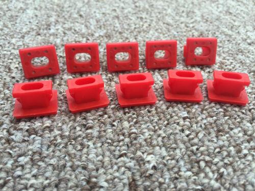 E46 3 E65 7 Series X3 E85 DASHBOARD DASH TRIM STRIP INSERTS CLIPS GROMMETS 10PCS
