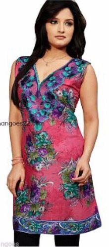 Cotton Indian Kurta Kurti Sleeveless Women Ethnic Dress Top Tunic Pakistani New