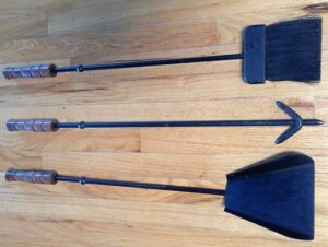 Mid Century Fireplace Tools Set Atomic Eames Nelson Era 60s Luther
