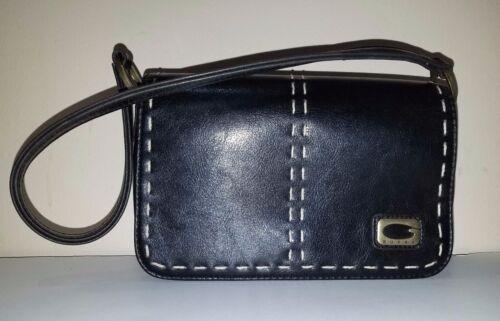 GUESS Mini Black Leather Shoulder Bag w/Contrast S