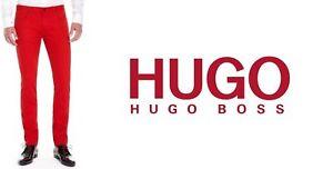 98e486fa New Hugo Boss mens 708 Red Slim Fit Cotton Denim jeans Pants ...