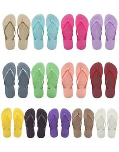 Havaianas-Slim-Brazil-Women-039-s-Flip-Flops-All-Sizes-Gold-Black-Purple-White